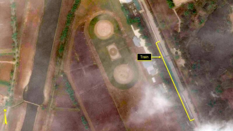 Trein van Noord-Koreaanse leider Kim Jong-un gezien buiten Pyongyang