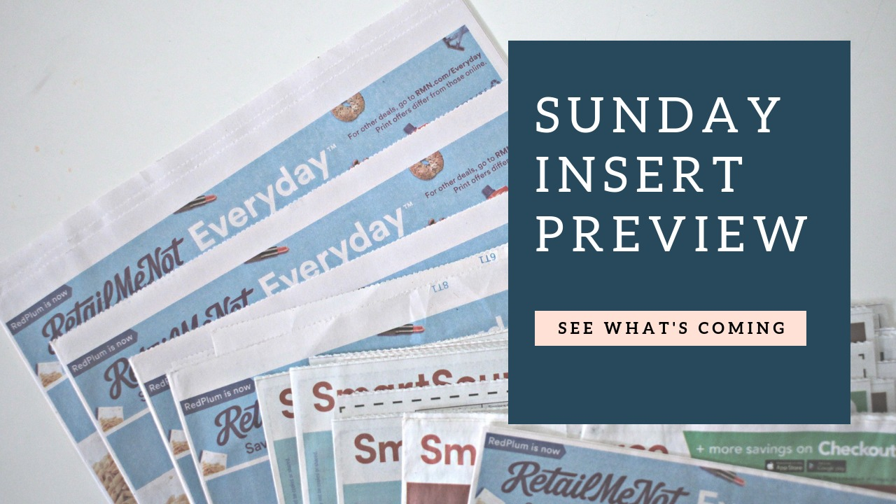 Sunday Coupon Insert Preview 05/03