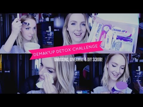 DEMAK'UP DETOX CHALLENGE / Unboxing, Give-Away & DIY Scrub!