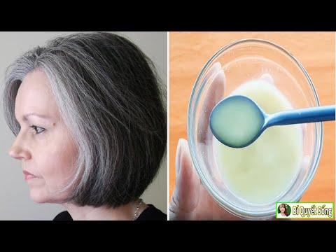 Chỉ cần 2 Thành Phần này tóc bạc sẽ biến mất hoàn toàn tóc đen nhánh chỉ sau 2 Tháng