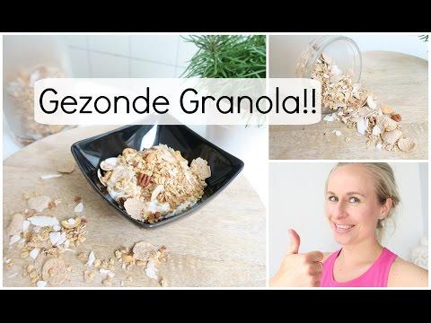 Recept: Gezonde Granola! (Ontbijtgranen)