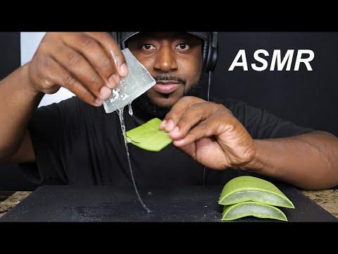 ASMR ALOE VERA  (SOFT STICKY, CRUNCHY SOUNDS) MUKBANG  (NO TALKING) TCASMR
