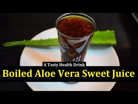 Aloe Vera Sweet juice Recipe in tamil   Aloe vera health benefits for hair   face glow   weight loss