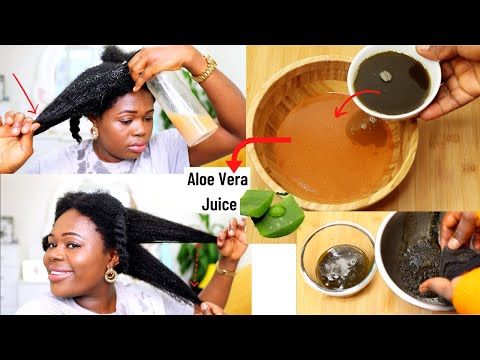 Add THIS to your Aloe Vera leave in Conditioner, spray and leave it overnight for Extreme HairGrowth