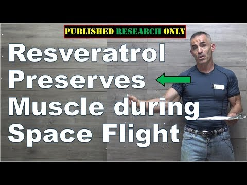 Resveratrol helps preserve muscle during space travel