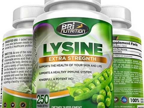 New Top Rated L-Lysine 250 Servings Per Bottle – Super 500mg Tablets By BRI Nutritio Top