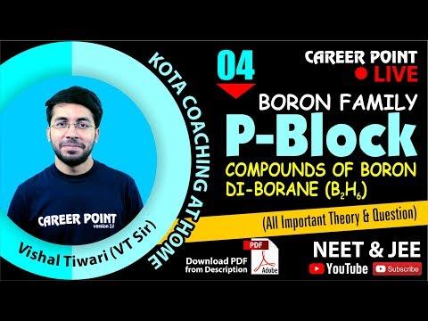 P Block Video Lecture-4 | Boron Family | Chemistry | NEET & JEE | VT Sir | Career Point Kota