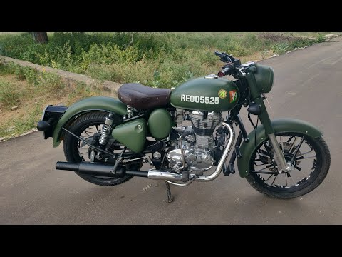 Royal Enfield vinyl wrapping military green || bullet modification || sikar wrap