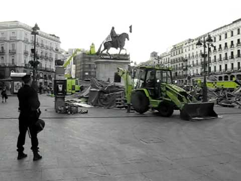 Destruction of the Infermary in Puerta del Sol