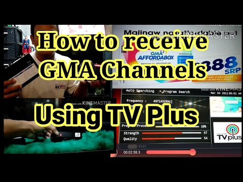 How to Receive GMA Channels Using TV Plus | ABS-CBN TV Plus to GMA Affordabox
