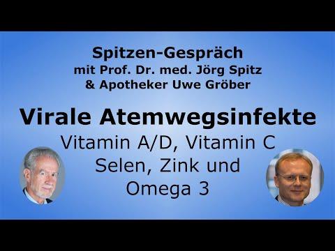 Vitamine D, A en C, selenium, zink en omega 3 bij virale luchtweginfecties – Uwe Gröber & Prof.Spitz