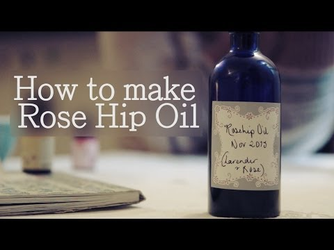 How to make Rose Hip Oil (+anti-ageing facial oil)