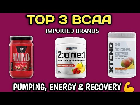 Top 3 bcaa for pumping, energy & recovery | bsn amino X | scivation xtend bcaa | muscles recovery |