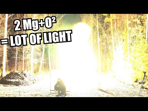 Magnesium Powder Explosion, Brightest thing you have ever seen