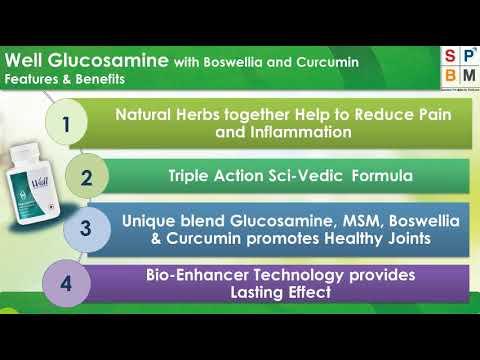 9 Well Glucosamine with Boswellia & Curcumin