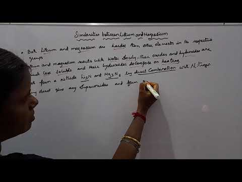 Similarities between lithium and magnesium Class 11 Chemistry