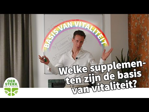 Welke supplementen zijn de basis van vitaliteit? WHITEBOARD WOENSDAG met drs. Richard de Leth #3