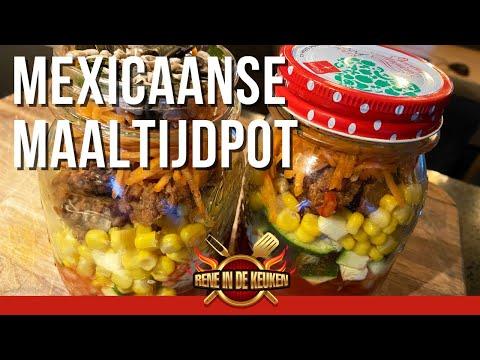 Mexicaanse maaltijdpot. Mexican Food Jar To Go