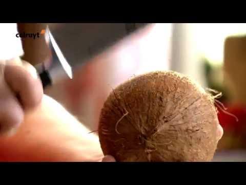 Kokosnoot openmaken – Colruyt