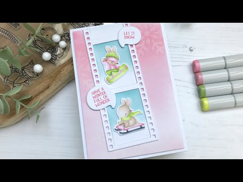 Pastel Christmas Card feat. Dashin Thru The Snow from Mama Elephant