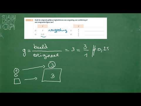 oef 18 gelijkvormigheidsfactor interpreteren