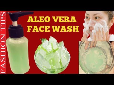 ALOE VERA FACE WASH/Skin Lightening Homemade Aloe Vera Foaming Face Wash