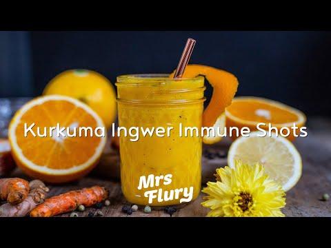 Kurkuma Ingwer Immune-Shots selber machen – Vitamin C