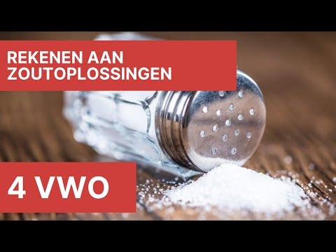4 vwo – Rekenen aan zoutoplossingen