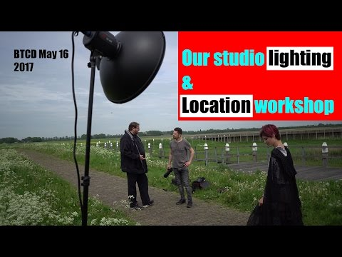 Our studio lighting and day 2 of the workshop BTCD May 16 2017