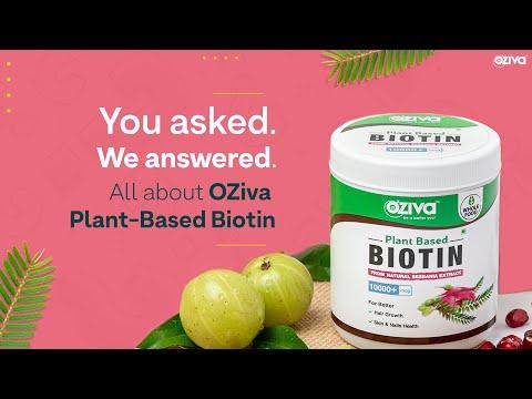 Ask Us Anything: OZiva Plant-Based Biotin| Biotin Benefits 🤩 | Side Effects🤔 | FAQs💯