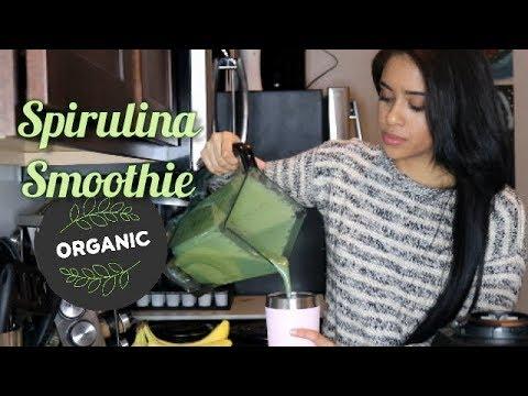 Spirulina Tropical Breakfast Smoothie: Detoxifying / Skin Clearing & Metabolizing
