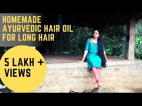 Kerala Herbal hair oil preparation   Homemade Ayurvedic Oil for Hair growth and prevent hair lose