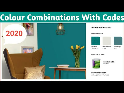 Colour Combinations With Codes| AsianPaints Colour Combinations| Living Room Color Combinations