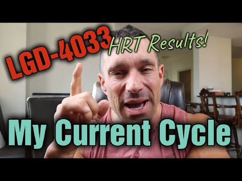 My New SARMS CYCLE LGD-4033; Results, Dosage; can SARMS help your HRT?