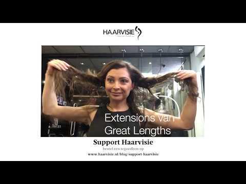 Hoe maak je krullen haar waar hairextensions zitten?