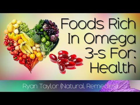 Voedingsmiddelen rijk aan Omega 3-vetzuren