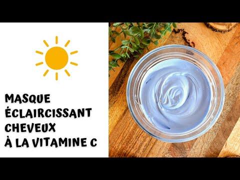 Masque Éclaircissant Cheveux à la Vitamine C 🌞😎
