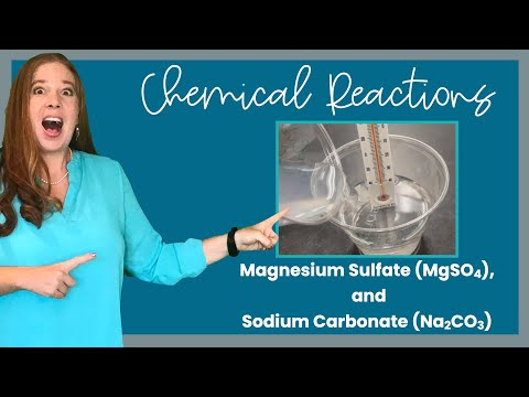 Chemical Reaction Experiment: magnesium sulfate with sodium carbonate