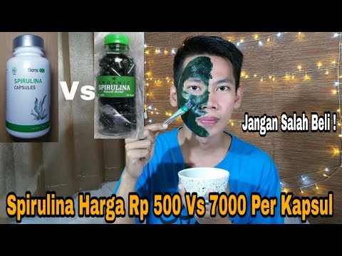 SPIRULINA HARGA Rp 500 VS Rp 7.000 Perkapsul By Andri Firgiawan
