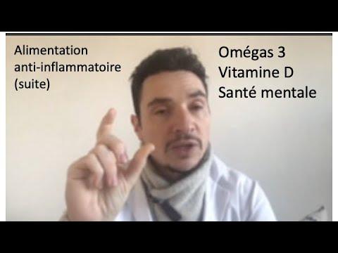 PSYCHONUTRITION séminaire partie 2: omégas 3 vitamine D alimentation anti-inflammatoire