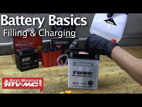 Battery Basics & Activation – Filling & Charging A Motorcycle Battery