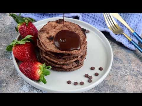 How To Make Double Chocolate Pancakes. Vegan and Gluten Free. By Amallia Eka