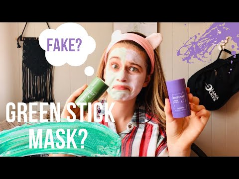 GREEN MASK STICK and Eggplant mask stick review! // HONEST
