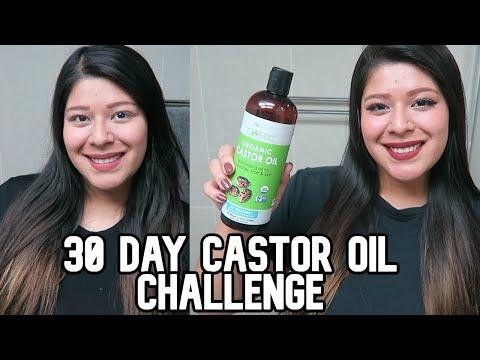 30 DAY CASTOR OIL CHALLENGE BEFORE & AFTER
