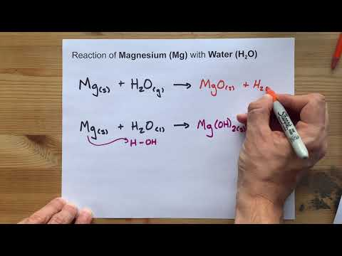 Reaction between Magnesium and Water (Mg + H2O)