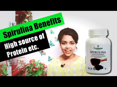 স্পিরুলিনা কি,স্পিরুলিনার উপকারিতা   Spirulina benefits in bengali   Feonnaa Herbals Spirulina