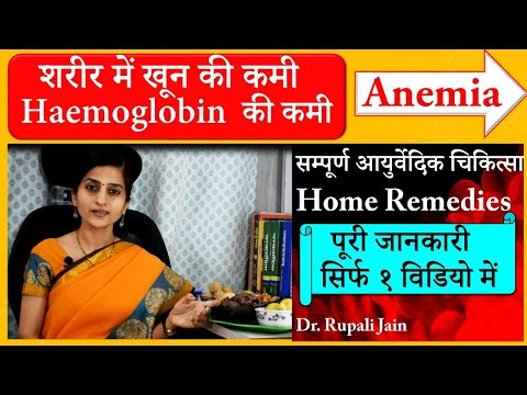 Anemia    शरीर में खून की कमी – हिमोग्लोबिन की कमी    सम्पूर्ण आयुर्वेदिक चिकित्सा और घरेलु इलाज