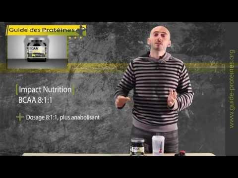 BCAA 8:1:1 de Impact Nutrition – Test & Avis de ces BCAA parfumés au Mojito
