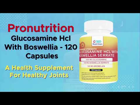 Pronutrition Glucosamine Hcl With Boswellia Double Strength 120 Capsules
