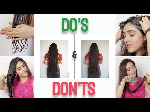 Do's✅ and Don'ts❌ for haircare AT HOME!!! | Grow hair in 2 months? | Ashnoor Kaur
